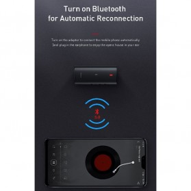 Baseus Wireless Bluetooth 5.0 Receiver Audio Adapter APT-X NFC - NGBA03-01 - Black - 8