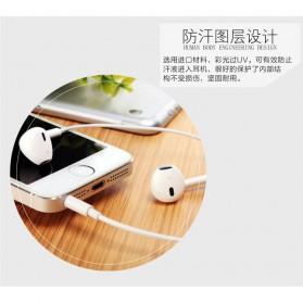 Hoco Elegant Earphone Earbud dengan Mic - M1 - White - 6