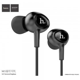 Hoco Premium Design Earphone dengan Mic - M3 - Black