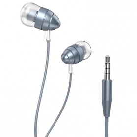 Hoco Unique Design Earphone dengan Mic - M5 - Gray