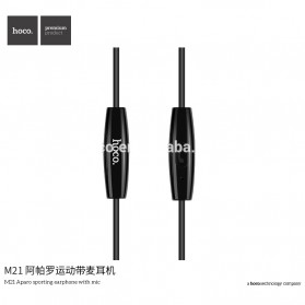 HOCO M21 Earphone with Mic - Black - 4