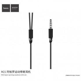 HOCO M21 Earphone with Mic - Black - 5