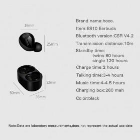 HOCO Muyue True Wireless Bluetooth Earphone with Charging Dock - ES10 - Black - 2