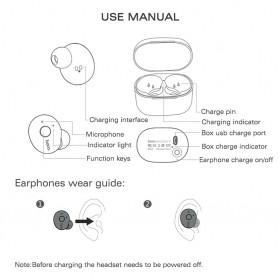 HOCO Muyue True Wireless Bluetooth Earphone with Charging Dock - ES10 - Black - 5