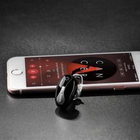 HOCO Mini Beetle Wireless Bluetooth Headset - E12 - Black - 3