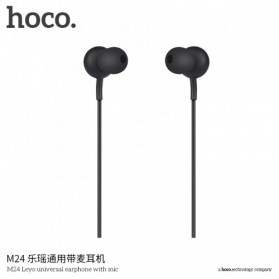 Hoco Leyo Series Earphone dengan Mic - M24 - Black - 2