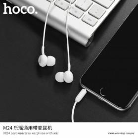 Hoco Leyo Series Earphone dengan Mic - M24 - Black - 3