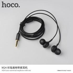 Hoco Leyo Series Earphone dengan Mic - M24 - Black - 4