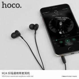 Hoco Leyo Series Earphone dengan Mic - M24 - Black - 5