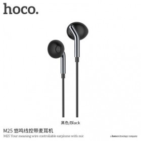 Hoco Your Meaning Earphone dengan Mic dan Volume Control - M25 - Black
