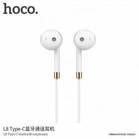 HOCO Bluetooh Earphone with Port USB Type C & Mic - L8 - White