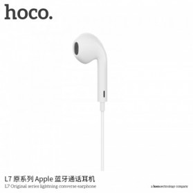 HOCO Bluetooh Earphone with Port Lightning & Mic for iPhone X - L7 - White - 2