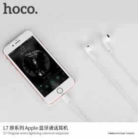 HOCO Bluetooh Earphone with Port Lightning & Mic for iPhone X - L7 - White - 3