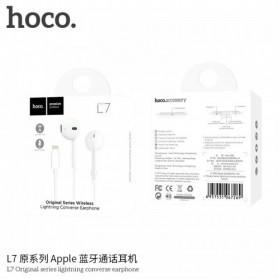HOCO Bluetooh Earphone with Port Lightning & Mic for iPhone X - L7 - White - 6