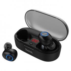 HOCO Joyous TWS Airpods Earphone Bluetooth dengan Charging Case - ES24 - Black - 1