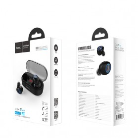 HOCO Joyous TWS Airpods Earphone Bluetooth dengan Charging Case - ES24 - Black - 10