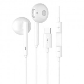 HOCO Acoustic Earphone Earpod USB Type C with Mic - L10 - White