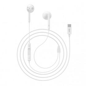 HOCO Acoustic Earphone Earpod USB Type C with Mic - L10 - White - 4