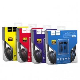 HOCO Enlighten Wired Headphone + Earphones with Mic - W24 - Blue - 10