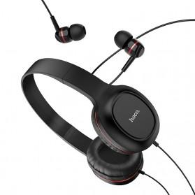 HOCO Enlighten Wired Headphone + Earphones with Mic - W24 - Blue - 2