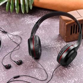 HOCO Enlighten Wired Headphone + Earphones with Mic - W24 - Blue - 5