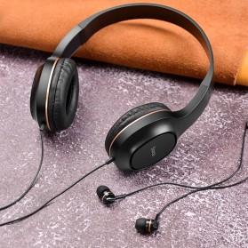 HOCO Enlighten Wired Headphone + Earphones with Mic - W24 - Blue - 6