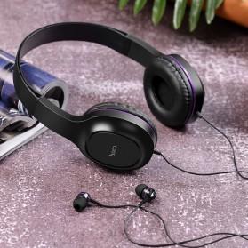 HOCO Enlighten Wired Headphone + Earphones with Mic - W24 - Blue - 7