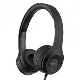 HOCO Graceful Charm Wired Headphone with Mic - W21 - Black