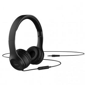 HOCO Graceful Charm Wired Headphone with Mic - W21 - Black - 2