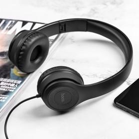 HOCO Graceful Charm Wired Headphone with Mic - W21 - Black - 3