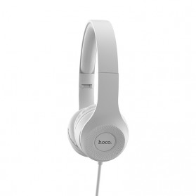 HOCO Graceful Charm Wired Headphone with Mic - W21 - Black - 4