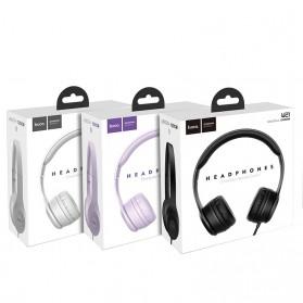 HOCO Graceful Charm Wired Headphone with Mic - W21 - Black - 7