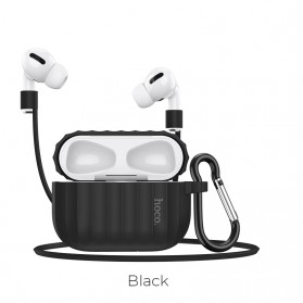 Hoco Silicone Case Waterproof for AirPods Pro Charging Dock - WB20 - Black