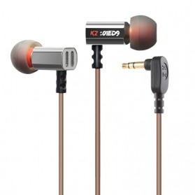 Knowledge Zenith Earphone 3.5mm dengan Mic - KZ-ED9 - Silver
