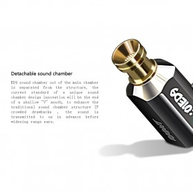 Knowledge Zenith Earphone 3.5mm dengan Mic - KZ-ED9 - Silver - 6