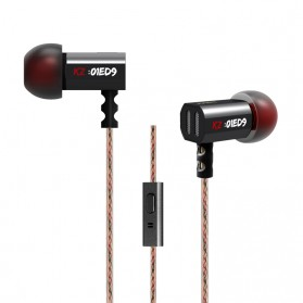 Knowledge Zenith Earphone 3.5mm dengan Mic - KZ-ED9 - Black