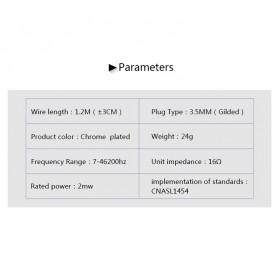 Knowledge Zenith Earphone 3.5mm dengan Mic - KZ-ED9 - Black - 10