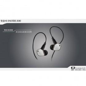 Knowledge Zenith Super Bass HiFi Earphones 3.5mm - KZ-IE80 - Black - 7