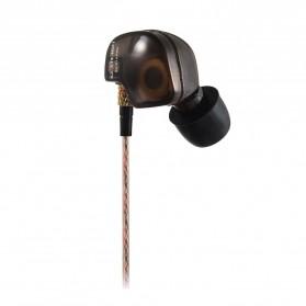 Knowledge Zenith Copper Driver In-Ear Sports Earphones 3.5mm with Mic - KZ-ATE - Silver Black - 2