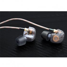 Knowledge Zenith Copper Driver In-Ear Sports Earphones 3.5mm with Mic - KZ-ATE - Silver Black - 6