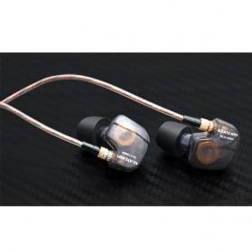 Knowledge Zenith Copper Driver In-Ear Sports Earphones 3.5mm with Mic - KZ-ATE - Silver Black - 7