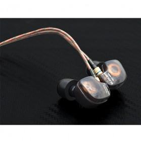 Knowledge Zenith Copper Driver In-Ear Sports Earphones 3.5mm with Mic - KZ-ATE - Silver Black - 8