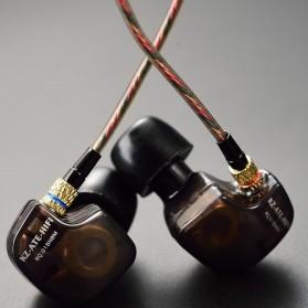 Knowledge Zenith Copper Driver In-Ear Sports Earphones 3.5mm with Mic - KZ-ATE - Silver Black - 9