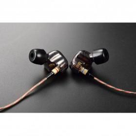 Knowledge Zenith Copper Driver In-Ear Sports Earphones 3.5mm with Mic - KZ-ATE - Silver Black - 10