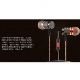 Knowledge Zenith Special Edition 7mm In-Ear Earphones Dual Magnetic Sound Unit  with Microphone - KZ-EDR1 - Multi-Color - 4