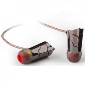 Knowledge Zenith Enthusiast In-Ear Earphones 8mm - KZ-ED8S - Black/Red