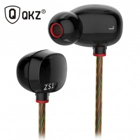 Knowledge Zenith HiFi Dual Dynamic Driver Earphones with Mic - KZ-ZS1 - Black