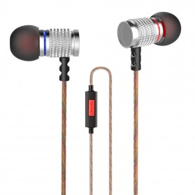 Knowledge Zenith HiFi Enthusiast In-Ear Earphones Pure Sound with Microphone - KZ-EDR2 - Silver