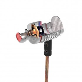 Knowledge Zenith HiFi Enthusiast In-Ear Earphones Pure Sound with Microphone - KZ-EDR2 - Silver - 3