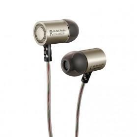 Knowledge Zenith HiFi Metal In-ear Earphones Heavy Bass 9.6mm Driver with Mic - KZ-ED4 - Gun Metallic - 2
